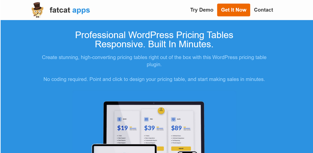 Easy Pricing Table Plugin