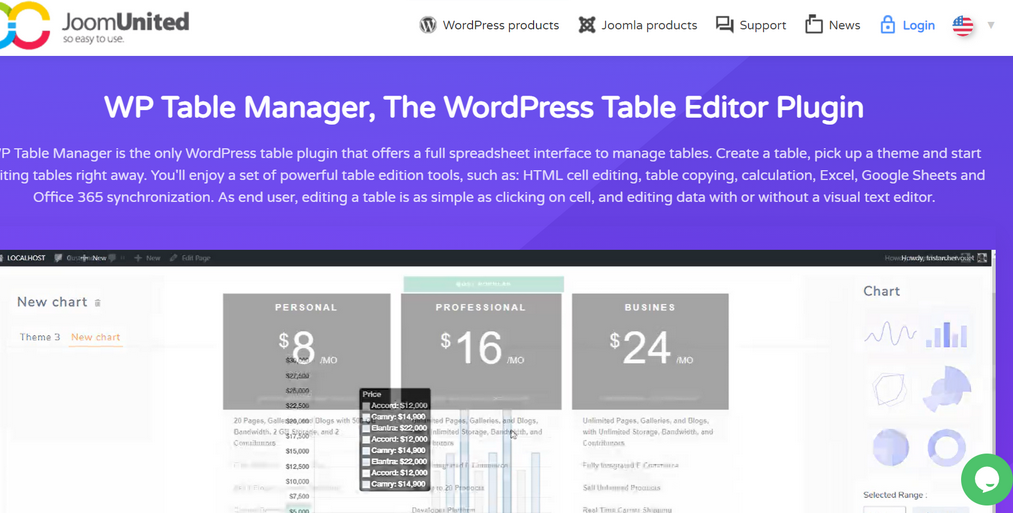 wp table manager